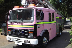 Pink fire engine